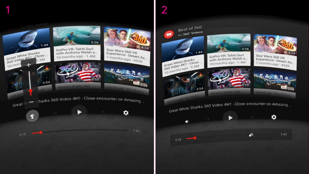 Daydream产品设计案例 - YouTube VR
